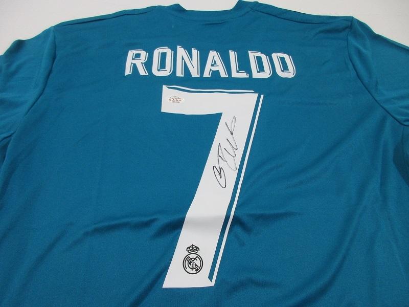 quality design 99075 31716 CRISTIANO RONALDO - HAND SIGNED REAL MADRID FLY EMIRATES SOCCER JERSEY - COA