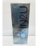 CK IN2U HIM Calvin Klein 3.4 oz EDT Men's Spray Cologne IN 2 U NIB 3.3 N... - $31.78