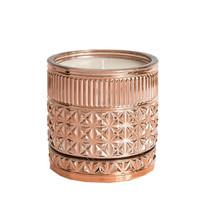 Capri Blue Gilded Gold Faceted Jar Candle Pink Grapefruit & Prosecco 11oz - $44.00