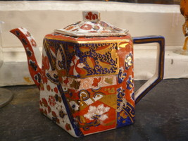 Old Derby pattern Ridgways teapot  very rare  - $99.00