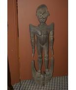 "Authentic Suspension Hook Carving Figure Iatmul Tribe Sepik 50"" Hand car... - $759.99"