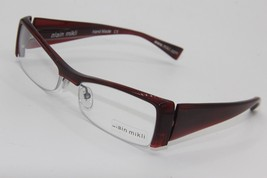 New Alain Mikli A 0491 16 Red Eyeglasses Authentic Rx A0491 52-17 W/CASE - $96.33