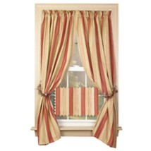 Country House  new PROVIDENCE striped window panels / nice - $35.53