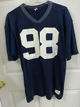 Vtg Champion 60's High School # 98 Game Used Football Jersey Men XL USA Made - $75.23