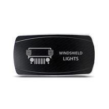 CH4x4 Rocker Switch Jeep Windshield Lights Symbol – Horizontal - Blue LED - $16.44
