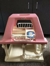 Vintage LITTLE TIKES Dollhouse with Pink Roof GRANDMA'S COTTAGE doll house Only image 4