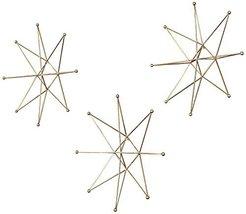 Uttermost 3-Pc Gold Stars Wall Art Set - €184,07 EUR