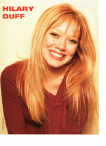 Hilary Duff teen magazine pinup clipping shiny teeth rare
