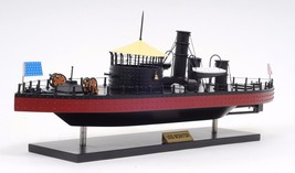 "USS Monitor Civil War Ironclad US Navy Warship 25"" Hand Built Wooden Mod... - $372.04"