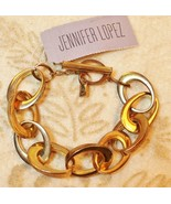 JLo Jennifer Lopez Chain Link Gold Tone Toggle Bracelet - $19.78
