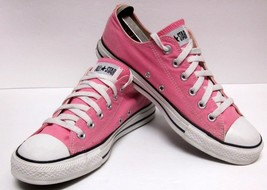 CONVERSE ALL STAR CLASSIC LO-CUT PINK CANVAS SNEAKERS UNISEX MENS 8  WO'... - $47.83