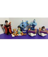 Lot of 5 Disney Aladdin 1992 Applause PVC Figures Genie Jafar Iago Jasmi... - $19.79