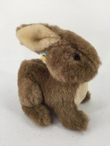 "Dakin Push Stuffed Toy Bunny ""Henry The Hare"" 1983 Soft Brown White 9""L Vtg - $12.19"