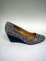 Bass Snake Print Stacked Wedge Shoes - Size 11M - $37.55