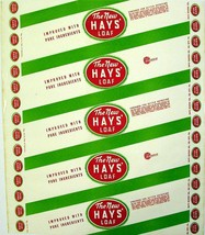 Vintage bread wrapper THE NEW HAYS LOAF Oil City Pennsylvania new old st... - $8.99