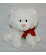 "Russ White Cat Sits 7"" Plush Kitten Red Neck Bow Stuffed Soft Toy Bean B... - $17.41"
