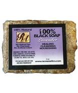 RA Cosmetics 100% Black Soap w/ Lavender Heals Nourish Cleans Face Body ... - $7.87