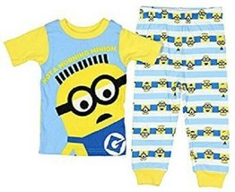 Despicable Me Toddler Boys 2pc Pajama Minions Sizes 2T, 3T, 4T or 5T NWT - $9.74