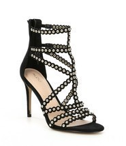 ALDO Gisel Caged Studded Detail Strappy Dress Sandals, Mult Sizes Black ... - $89.95