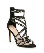 ALDO Gisel Caged Studded Detail Strappy Dress Sandals, Mult Sizes Black ... - £69.13 GBP
