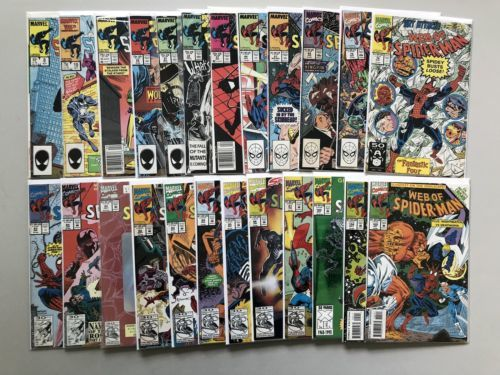 Lot of 24 Web of Spider-Man (1985 1st Series) from #8-105 FN-VF Very Fine