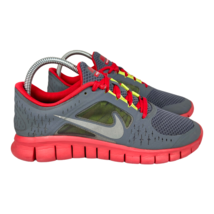 Nike Youth Free Run 3 Running Gray Red Athletic Sneakers 512165 003 Size 7Y - $27.04