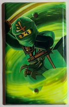 Ninjago LLOYD green Light Switch Outlet duplex wall Cover Plate Home Decor image 4