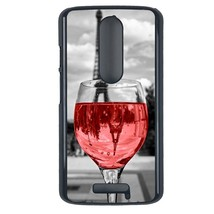 Coloful wine with Paris Motorola Moto X3 case Customized premium plastic... - $12.86