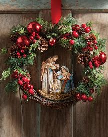Joy to the world christmas wreath p39