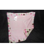 Carter's Baby Security Blanket Lovey Pink Polka Dot Brown Green Blue Small - $21.23