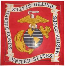 "22""x22"" Red USMC Marine Marines EGA Bandana 100% Cotton (Premium Fabric) - $7.77"