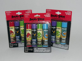 3 Packs 12 Tubes Angry Birds Hydrating Lip Balm Rovio .15 Oz Each New Se... - $12.86