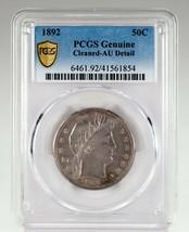 1892 50C Barber Demi Dollar Classé Par PCGS Comme Véritable Au Détail Ne... - $296.52