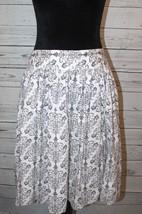 Ann Taylor Loft Women's Size 6 Black White Knee Length Lined Semi Circul... - $16.99