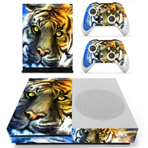 Xbox one S Slim Console Skin Vinyl Decals Stickers Animal Cool Tigers Skin Cover - $12.00