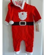 Santa Claus Outfit, Boys One Piece Snap, Long Sleeve, Christmas NWT  C7 - $12.81