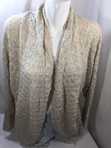 Forever 21 Women Blouse Relaxed Fit Open Chest Cream White Knitted Style Size M - $17.75