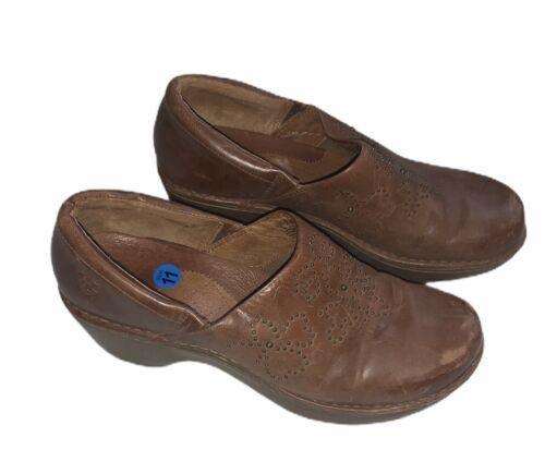 Ariat 21231 Sz 11B Studded Deco Western Clogs Brown Leather Slip On Shoes Cowboy - $39.59