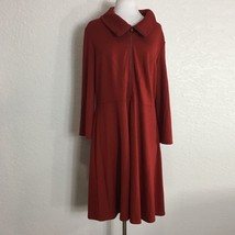 Spense Womens Sweater Dress Solid Red Size 16 Front and Side Zip Knit Ca... - $39.60