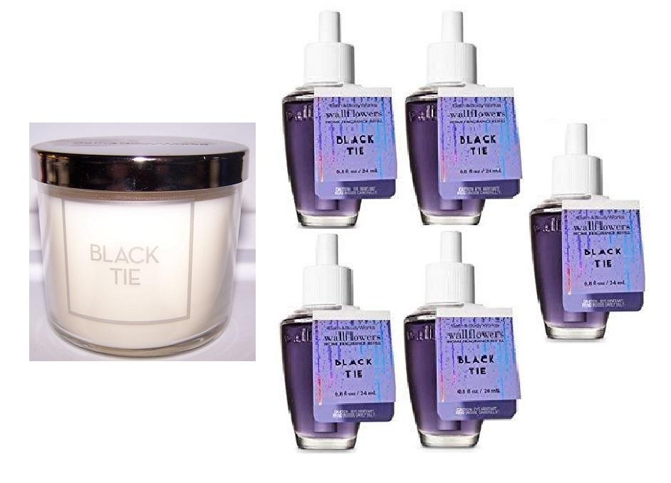 Bath & Body Works Black Tie Home Fragrance Set Wallflower Refill Bulb Candle