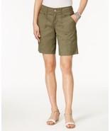 Style & Co Zippered-Pocket Shorts - Olive Sprig - Size 18, MSRP $46 - $21.77