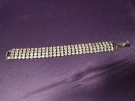Vintage Weiss Multi Rhinestone Band Cuff Style Silver Tone Bracelet SIGNED - $111.38