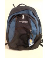 NICE! JANSPORT DAY PACK BACKPACK FOR HIKING CAMPING SCHOOL BLUE BLACK - $24.95