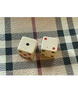 Set of Vintage Wooden Dice with Colored Pips! - $8.41