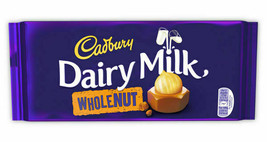 Cadbury Dairy Milk Chocolate Wholenut 200g NEW SHIPS WORLDWIDE - $5.23