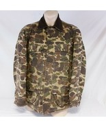 Vintage Carhartt Duck Camo Hunting Jacket Coat CQ103 Outdoors Quilted Large - $129.99