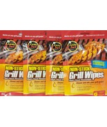 Grate Chef Non-stick Grill Cleaning Wipes 6 Count Lot Of 4 B9 - $17.77