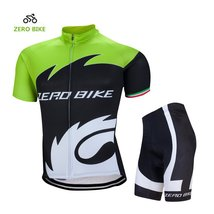 ZEROBIKE Men's Short Sleeve Breathable Cycling Jersey Padded Pant Outdoor Sports - $29.69