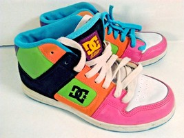 DC MULTI-COLOR SKATE SKATEBOARD SHOES DC SHOE COMPANY SIZE  6.5W FREE SH... - $28.95