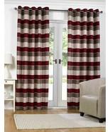 "Barcelona Red 46"" x 54"" (117cm x 137cm) Anneau Top Eyelet Curtains - $22.96"